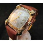 Bulova Excellency Engraved Bezel and Lugs Ca.1949