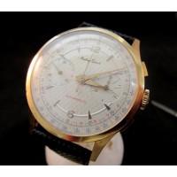 Mathey  Tissot 18k Pink Gold Chronograph