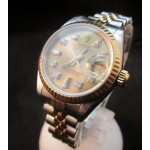 Rolex Ladies Steel and Gold Diamond Dial